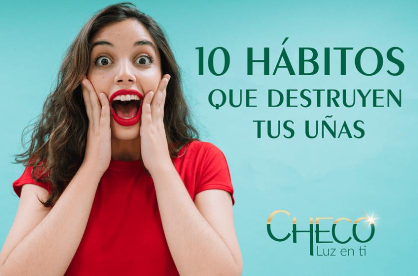 10 hábitos que destruyen tus uñas